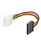 IDE to SATA HDD power adapter cable - Black + Multi-colored (15cm)