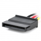 IDE a SATA HDD cable adaptador de corriente - negro + multicolor (15 cm)