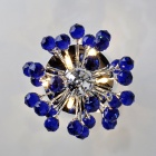 Blue Crystal 6-light Chandelier in Globe Shape