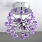 Purple Crystal 6-light Chandelier in Globe Shape