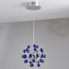 Blue Chandelier with 6 Lighting (K9 Crystal)