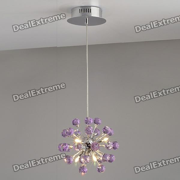 Purple Chandelier with 6 Lighting (K9 Crystal / 110~120V)