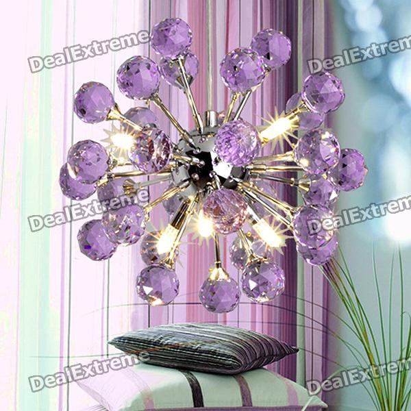 Cheap Purple Chandelier with 6 Lighting K9 Crystal 220240V – Purple Chandelier Lighting