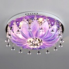 Luxuriant Crystal Flush Mount with G4 Lightings in Violet