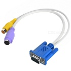 VGA to SVIDEO and RCA F Cable