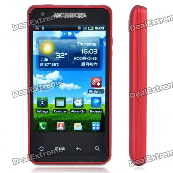 "T9188 3.8 ""capacitif Android 2.2 Simple SIM Quadribande GSM Cell Phone TV w / Wi-Fi/FM - Rouge"