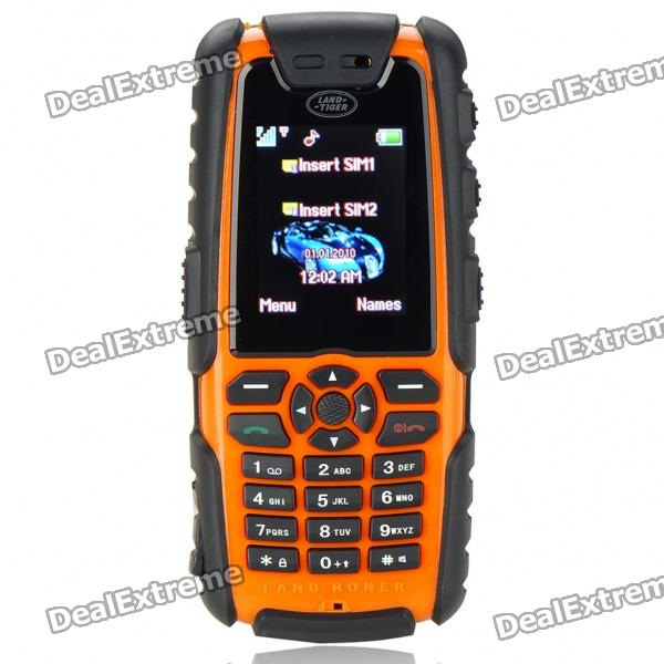 "Impact Defender L9 1.8"" LCD Dual-SIM Dual-band GSM Cell Phone w/ Flashlight/TF - Orange"