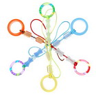 Stylish Colored Rings Cell Phone Charms (12-Pack)