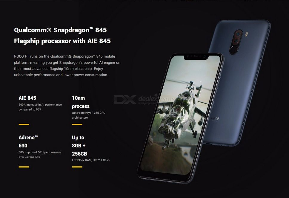 Xiaomi Pocophone F1 4G Phablet Global Version 20 0MP Front Camera  Fingerprint Sensor RAM 6Gb ROM 128Gb