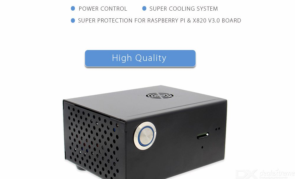 V3 0 Ssdampamphdd Sata Storage Board Metal Case / Enclosure With Power  Control Switch + Cooling Fan Kit For Raspberry Pi