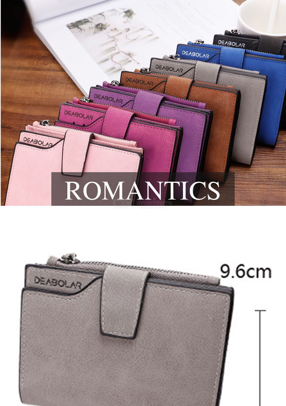 ed9c80828158 Wallets & Holders - Fashion Portable Small PU Leather Zipper Short ...