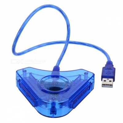 PS2 Game Controller to PC USB Converter - Blue