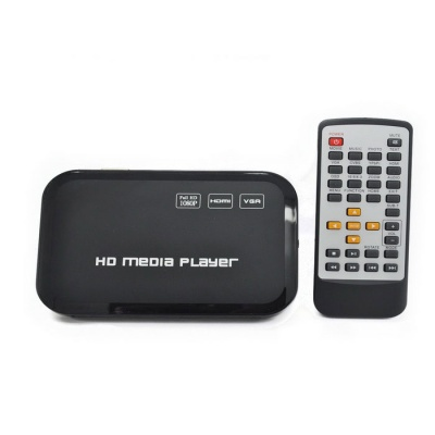 Mini 1080P Full HD Media Player w/ HDMI/USB/SD/YPrPb/AV/VGA - Black