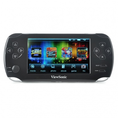 "4.3"" Touch Screen Win CE Net 6.0 Core Game Console Media Player w/ Camera/FM/TV-Out/TF - Black (4GB)"