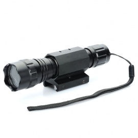 UltraFire Flashlight Aluminum Alloy Casing/Shell/Housing with Strap & Gun Mount - Black