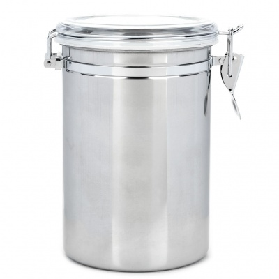 Stainless Steel Airtight Pot Fresh Food Storage Container - Silver (2000ml)