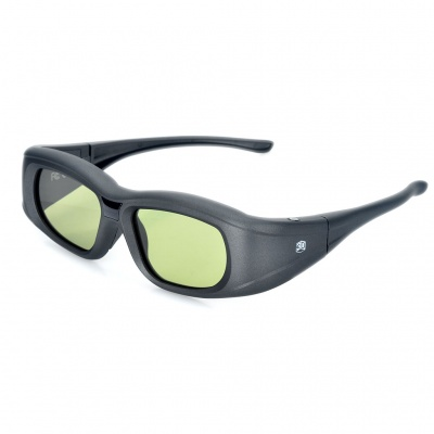 Universal USB Rechargeable IR/Bluetooth V3.0 3D Active Shutter Glasses for General 3D TVs - Black