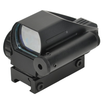 4-Reticle Green/Red Dot Sight Rifle Scope Gun Mount with Pressure Switch (1 x CR2032)