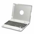 Rechargeable Bluetooth 3.0 Wireless Keyboard w/ Protective Case for Ipad 2 / the New Ipad - Silver