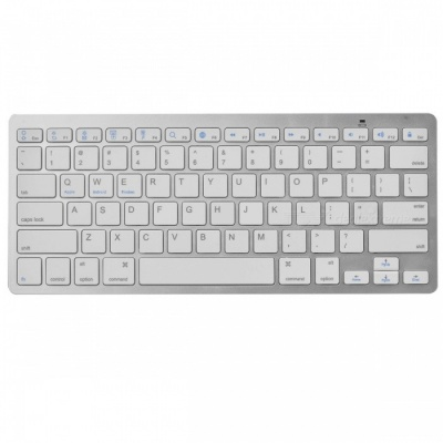 Ultra-Thin 2.4GHz Bluetooth Wireless 78-Key Keyboard (2 x AAA)