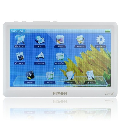 "5"" Resistive Touch Screen MP4 Media Player w/ FM / AV-Out / TF - White (8GB)"