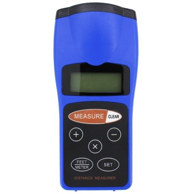 """CP-3008 1.8"""" LCD Ultrasonic Distance Measurer with Red Laser Pointer"""