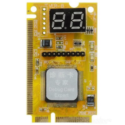 3 in 1 Mini PCI-E / Mini PCI / LPC 2-Digit Analyzer Tester POST Card for Laptop