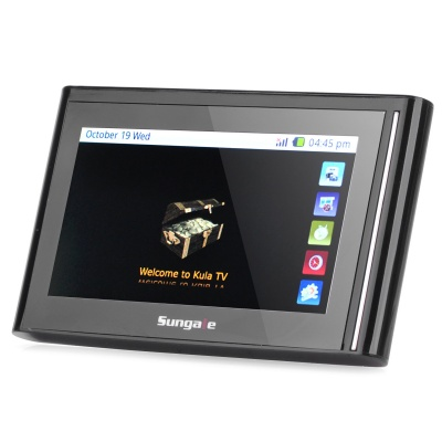 "ITV430 4.3"" Touch Screen Portable Wireless Internet TV w/ Built-in Antenna / TF / 2GB - Black"