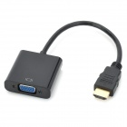 HDMI Male to VGA Female Connection Adapter Cable - Black (20cm)