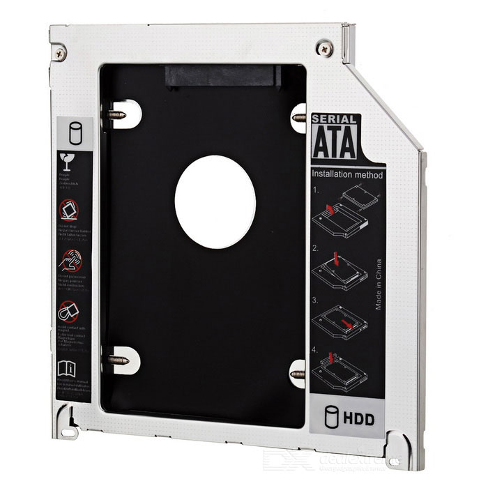 "2.5"" SATA to SATA HDD Caddy for MacBook Pro + More - Silver + Black"