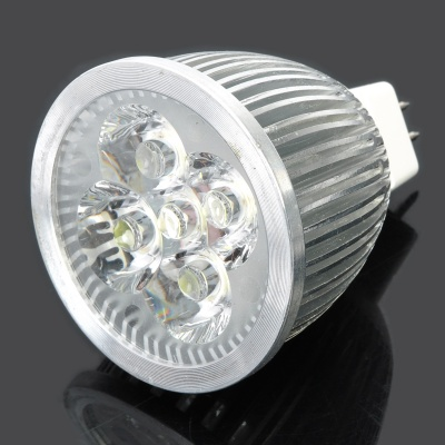 GU5.3 5W 510-Lumen 6400K Cold White Light 5-LED Cup Bulb (DC 12V)