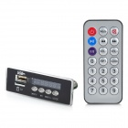 "1.0"" LED MP3 Player Module w/ FM/ USB/TF/Remote Controller - Black (12V)"