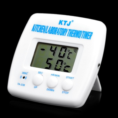 """1.7"""" LCD Thermometer with Timer for Kitchen & Lab (1 x AAA)"""
