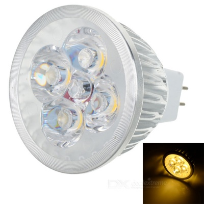 GU5.3 4W 380lm 3500K Warm White Light 4-LED Cup Bulb (DC 12V)