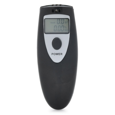 "0.9"" LCD Digital Alcohol Breath Tester - Black (2 x AAA)"