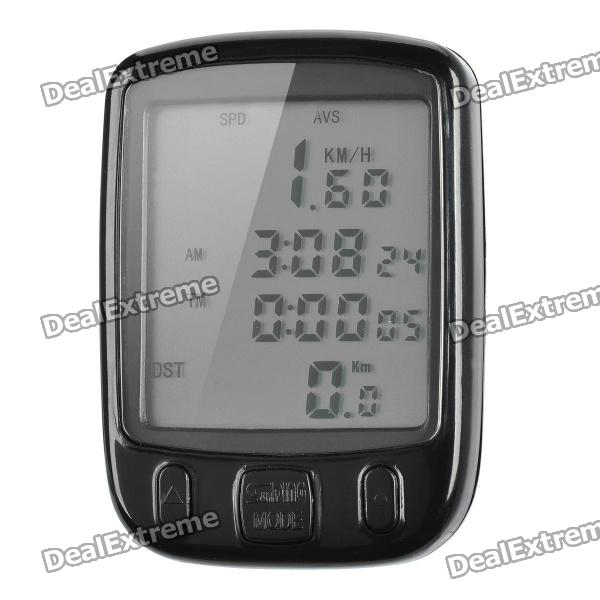 """2"""" LCD Electronic Bicycle Computer / Speedometer - Black (1 x CR2032)"""