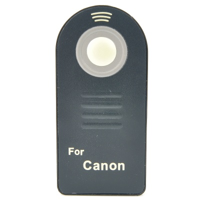 Wireless IR Remote Control for Canon 7D + More - Black (1*CR2025)