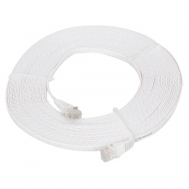 RJ45 to RJ45 Cat.6 Flat Network Cable - White (10M)