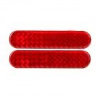 Car Vehicle Safety Reflective Stickers - Red (Pair / Size-S)
