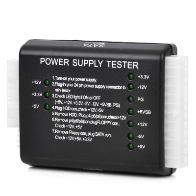 PC Power Supply Tester - Black