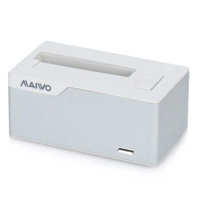 "Maivo USB 3.0 SATA 3.5"" / 2.5"" HDD Docking Station - Silver + White"