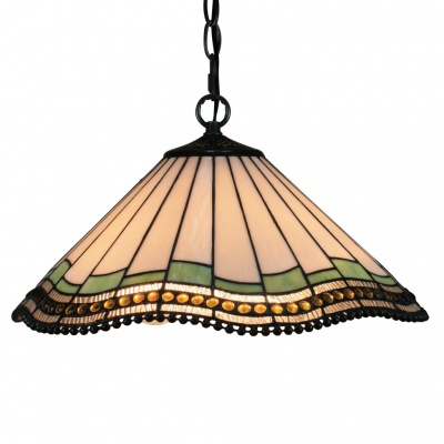 Tiffany Pendant Light with 2 Light in Geometrical Patterned Shade (220-240V)