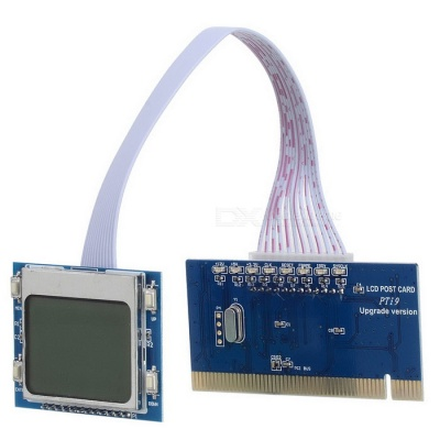 PTi9 PC Main Board LCD Repair Tool Post Card Test Card - Blue + White