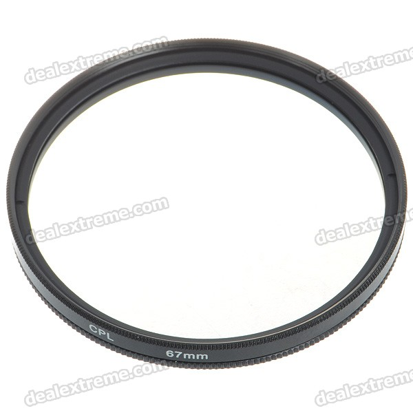 CPL Polarizer Lens Filter - Black (67mm)