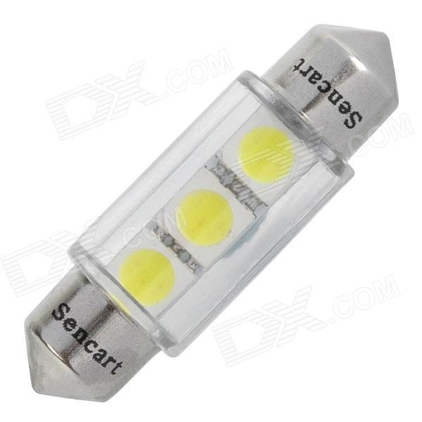 Festoon 36mm 0.75W 3-SMD White Car Reading / License Plate Lamp (12V)