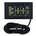 "1.5"" LCD Digital Indoor / Outdoor Thermometer - Black (2*LR44)"