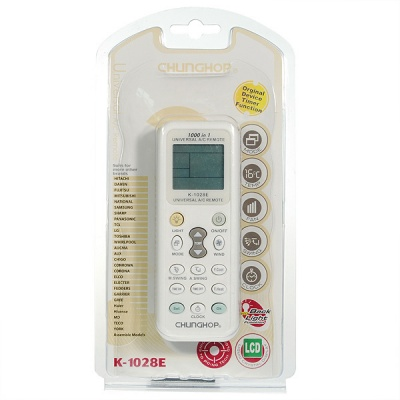 K-1028E Universal IR Air Conditioner Remote Controller - White
