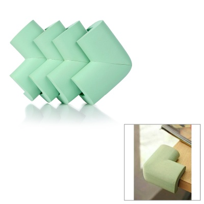 Baby Safety Desk Table Corner Guard Cover - Green (4PCS)