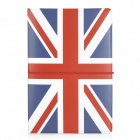 The United Kingdom National Flag Pattern PU Leather Passport Holder - Red + White + Blue