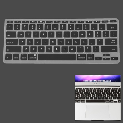"Silicone Keyboard Protective Cover for Apple MacBook Air 11.6"" - Black"